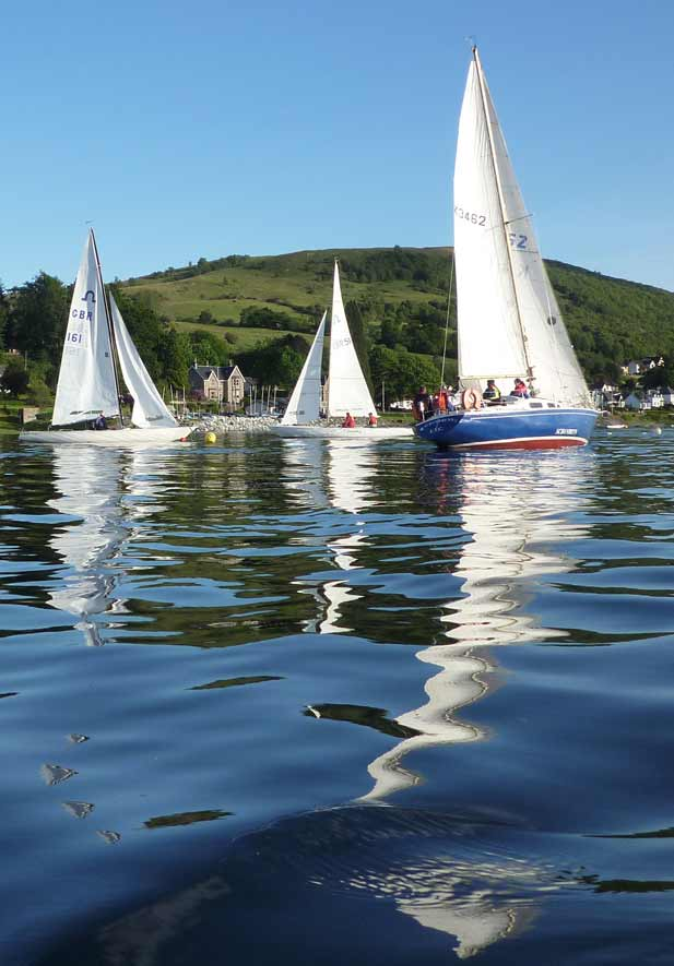 Lochaber Yacht Club is a great place to sail on Loch Linnhe, Fort William